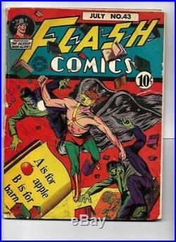 1943 Flash Comics # 43 Golden Age National Comic