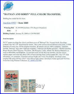 1944 Golden Age 1st Non-Comic Batman Premium (SUPER RARE IN ANY CONDITION)