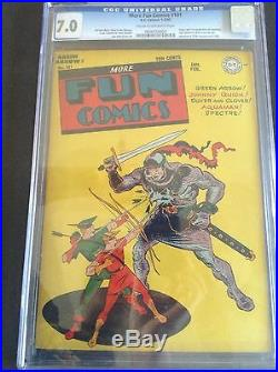 1st Appearance of Superboy Rare Golden Age More Fun Comic #101