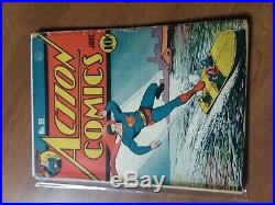 Action Comics #25 Unrestored Early Golden Age Superman DC Comic 1940 FR-GD
