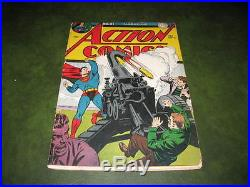 Action Comics #91 1945 DC Golden Age Superman Comic Book Rare Double Cover Fine