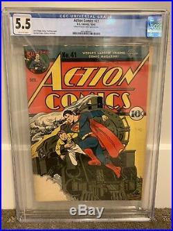 Action Comics (DC) #41 1941 CGC 5.5 Golden Age