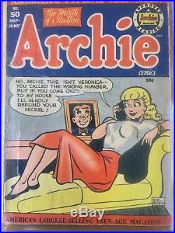 Archie Comics #50 Golden Age Comic Book CGC RESTORED GRADE 1.8