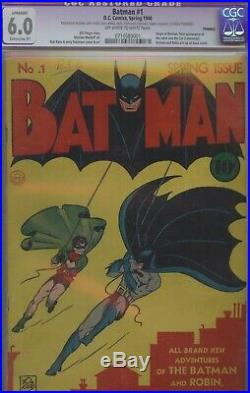 Batman #1 CGC 6.0 DC Golden Age owithw pages restored