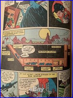 Batman #12 DC Golden Age 1942 Joker appearance 1st secret hangar (Batcave)