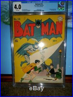 Batman #14 Cgc 4.0 Early Penguin Cover Golden Age