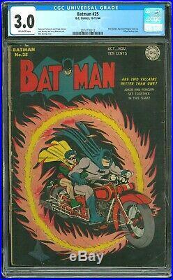 Batman 25 CGC 3.0 (Golden Age)