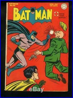 Batman #28 1945-joker Story-robin-golden Age Dc-alfred Fn