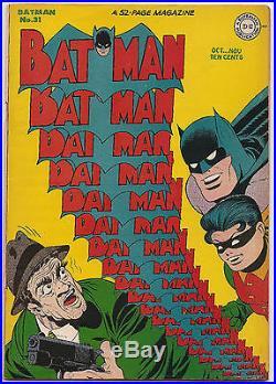 Batman 31 Bob Kane Infinity Cover High Grade Golden Age