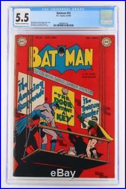 Batman #54 CGC 5.5 FN- DC 1949- Golden Age Comic