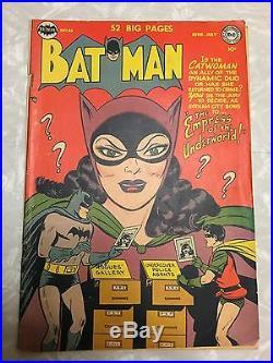 Batman #65 Catwoman Cover Story DC Comics Golden Age Classic 52 pgs