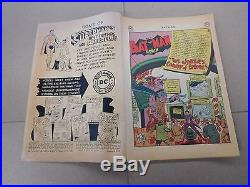 Batman #66 (Aug. Sept. 1951, DC) Joker's Comedy Errors Golden Age NO RESERVE