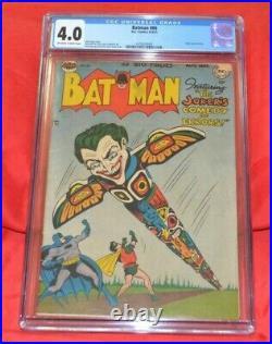 Batman 66 CGC Bill Finger story Bob Kane art GOLDEN AGE DC COMIC
