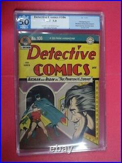 Batman In Detective Comics #106 Pgx Graded 5.0 Very Good/fine 1945 DC Comics