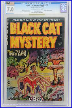 Black Cat Mystery Comics # 35 CGC 7.0 Atomic explosion cover Golden Age