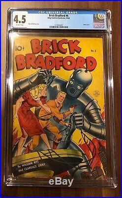 Brick Bradford 6 CGC 4.5 Robot Cover- Alex Schomburg -Off White Pages Golden Age