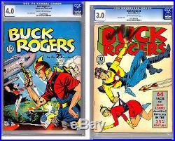 Buck Rogers #1-2 Cgc 4.0-3.0 Pre-wwii Classic Golden Age Retro Sci-fi 1940-1941