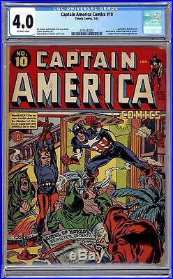 Captain America Comics (Golden Age) #10 1942 CGC 4.0 2016432001