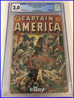 Captain America Comics (Golden Age) #37 1944 CGC 2.0 Schomburg cover