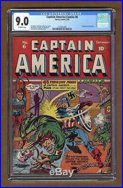 Captain America Comics (Golden Age) #6 1941 CGC 9.0 1273053001