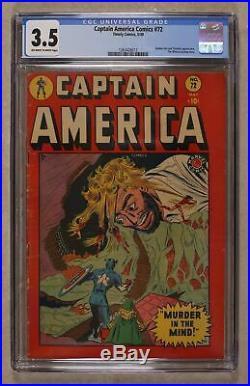 Captain America Comics (Golden Age) #72 1949 CGC 3.5 1263426013