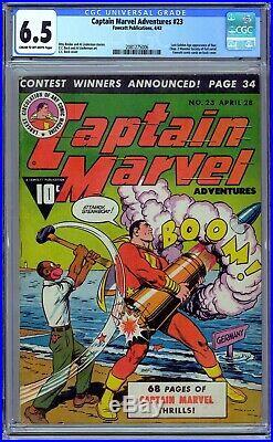 Captain Marvel Adventures #23 CGC 6.5 (1943, Fawcett) C. C. Beck. Golden Age
