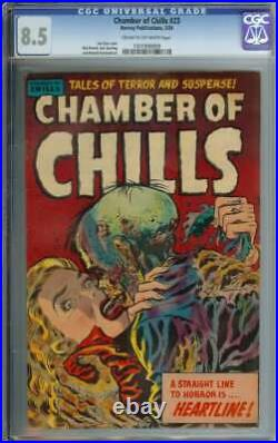 Chamber Of Chills #23 Cgc 8.5 Cr/ow Pages // 3rd Highest Graded Golden Age Pch