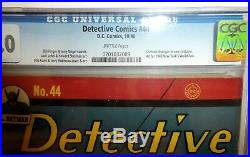DC COMICS DETECTIVE 44 CGC 3.0 Batman daisy Sonic 1940 cbcs Golden age