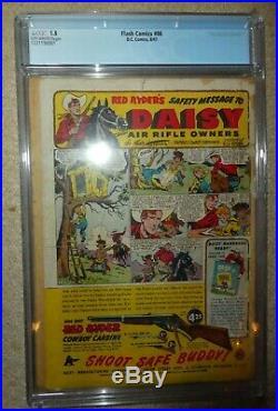 DC COMICS FLASH 86 1st Black Canary Bondage cover 1.5 CGC 1947 golden age