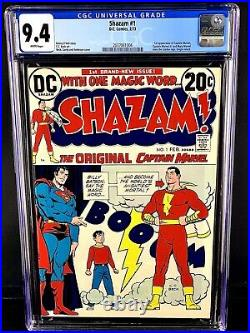 DC COMICS SHAZAM #1 CGC 9.4 OWithWP NM 1ST APPEARANCE SINCE GOLDEN AGE