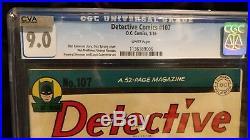 DETECTIVE COMICS 107 CGC 9.0 White Pages NM 1964 Batman Robin Scorpio GOLDEN AGE