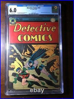 Detective Comics #103 (1945) Batman! Robin! CGC 6.0 Golden Age