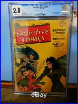 Detective Comics #122 Cgc 2.0 First Catwoman Cover Classic Golden Age Batman