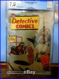 Detective Comics #123 Cgc 7.0 Great Condition Golden Age Batman