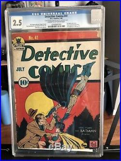 Detective Comics #41 CGC 2.5 Golden Age Batman