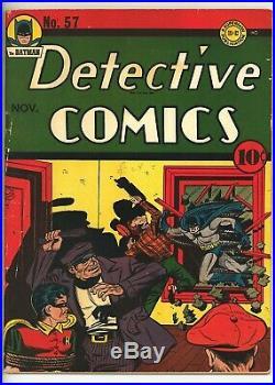 Detective Comics 57 (Q) BATMAN Robin Golden Age DC 1941 Bob Kane (c#26294)