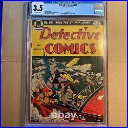 Detective Comics #90, Cgc 3.5, Owp, 1944, Golden-age Classic, Dick Sprang Cover
