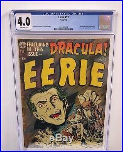 Eerie #12 Cgc 4.0 1st Dracula In Comics Golden Age Horror