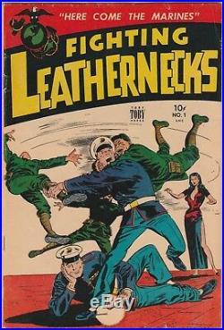 Fighting Leathernecks #1 (Feb 1952, Toby Press) Marine Corps USMC Golden Age War