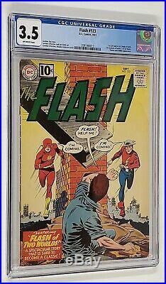 Flash #123 Cgc 3.5 1st Earth II Golden Age Flash Origin Of Both