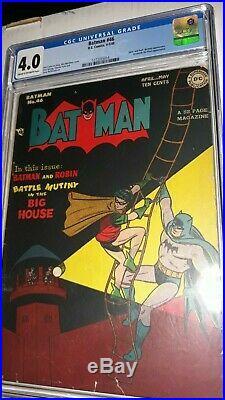 Golden Age Batman #46 CGC 4.0 (1948) Joker & Prof. Nichols App DC Comics