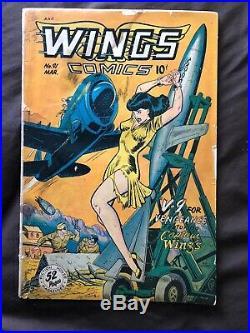 Golden Age Comic Lot of 10 GGA Bondage Headlights Baker Kamen