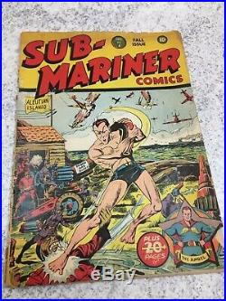 Golden Age SUB-MARINER #7 Timely Comics Very Hard to Find FALL 1942 RARE COMIC