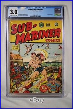 Golden Age Sub-Mariner #7 CGC 3.0 Timely Comics Hard to Find 1942