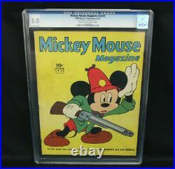 Golden Age Walt Disney Mickey Mouse Magazine #v4 #9 1939 CGC Graded 5.0 VG/FN