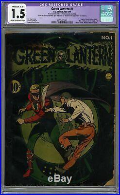 Green Lantern (Golden Age) #1 1941 CGC 1.5 RESTORED 2050791001