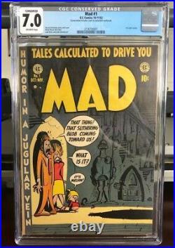 MAD #1 (E. C. Comics, 1952) CGC 7.0 Conserved 1st Satire Comic Book Golden Age