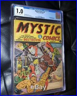 Mystic Comics #8 CGC 1.0 Bondage Torture Cover Hitler App Golden Age Timely