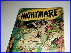 Nightmare 13 St John Pre Code golden age Horror Comics 1954 Matt Baker cover art