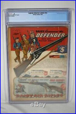 Rare Timely Captain America #15 Golden Age Comic 1942 CGC. 5